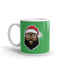 Black Santa Coffee Mug