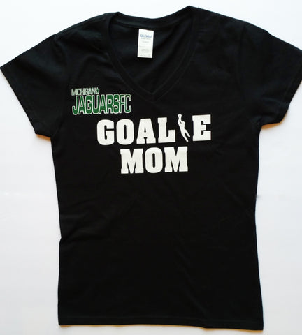 Goalie Mom Cotton V-Neck