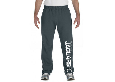 Michigan Jaguars FC Open Bottom Sweatpant - Dark Heather Gray