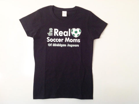 Real Soccer Moms Of MI Jaguars Short Sleeve Crew Cotton Tee