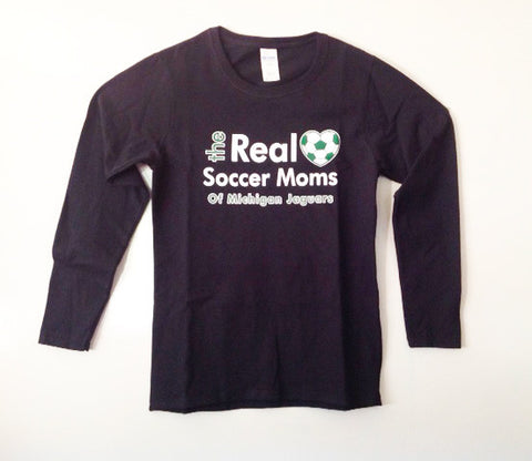 Real Soccer Moms Long Sleeve Cotton Tee