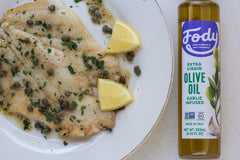 Low FODMAP <br><b><big>Garlic Infused Olive Oil </big></b><br><small>Extra-Virgin, Non-GMO, Made in Italy</small>