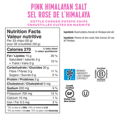 Low FODMAP <br><b><big>Kettle Cooked Pink Himalayan Salt Chips (2 Bags)</big></b><br><small>Gluten-Free!</small>