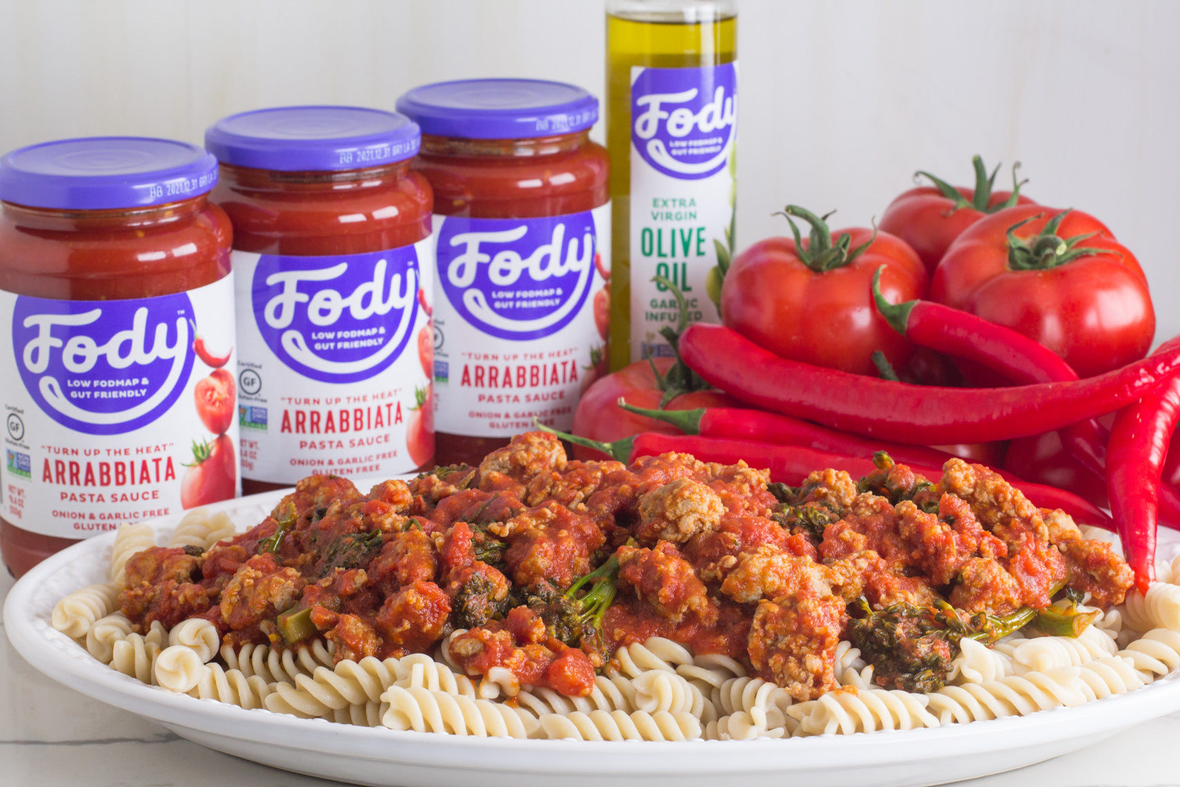 Low FODMAP <br><b><big>Pasta Sauce Variety Pack </big></b><br><small>No Onion, No Garlic & Gluten-Free!</small>