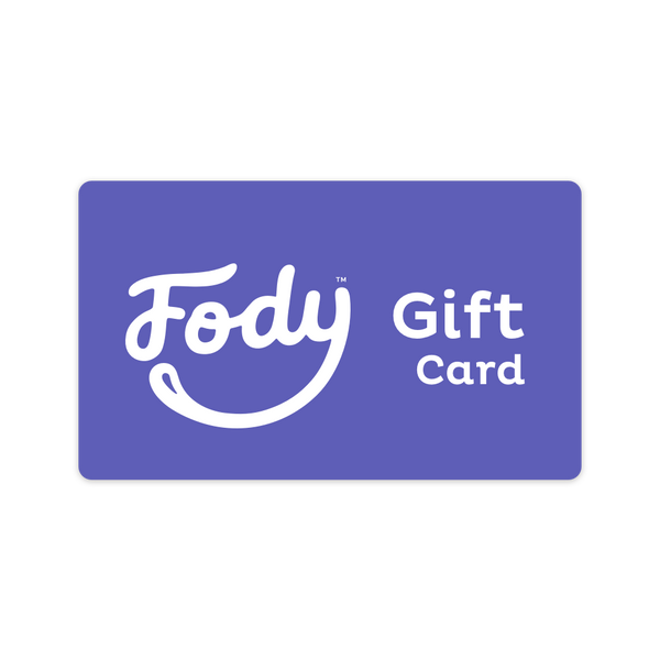<b><big>FODY Low FODMAP Gift Card</big></b><br>Give the gift of choice <br><small>$25, $50, $100 Variants</small>