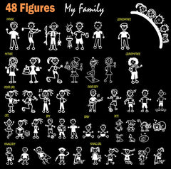 Family Figure Car Decal Stickers