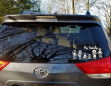 48 Stick Figures Full Collection Package My Family Car Window Decal Stickers