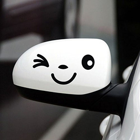 Smile Face Design 3D Decoration Sticker Car Decal Sticker - Black