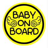 Baby Angel - Baby on Board Magnet Decal Safety Caution Sign for Car Windows