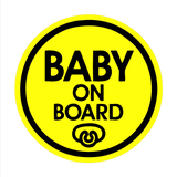 Baby Pacifier - Baby on Board Magnet Decal Safety Caution Sign for Car Windows