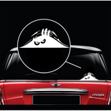 Scary Eyes Peeking monster Car Decal Sticker for Window and Bumper