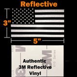 "3 Pack Subdued USA American Flag Decal 5""x3"" Reflective Tactical US Military Army Navy Vinyl Bumper Sticker for Car truck RV SUV Jeep Wrangler Boat Window accessories"