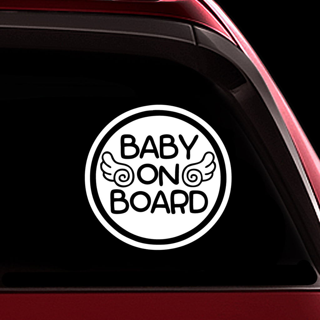 Baby Angel - Baby on Board Sticker Decal Safety Caution Sign for Car Windows