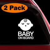 Sleeping Baby Boy - Baby on Board Sticker Decal Safety Caution Sign for Car Windows