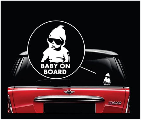 Baby on Board Sticker Decal Safety Caution Sign for Car Windows - Carlos from The Hangover funny decal bumper stickers