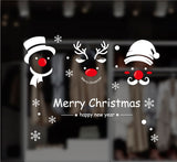 TOTOMO #W105 Christmas Snowman and Deer Window & Wall Decal Stickers