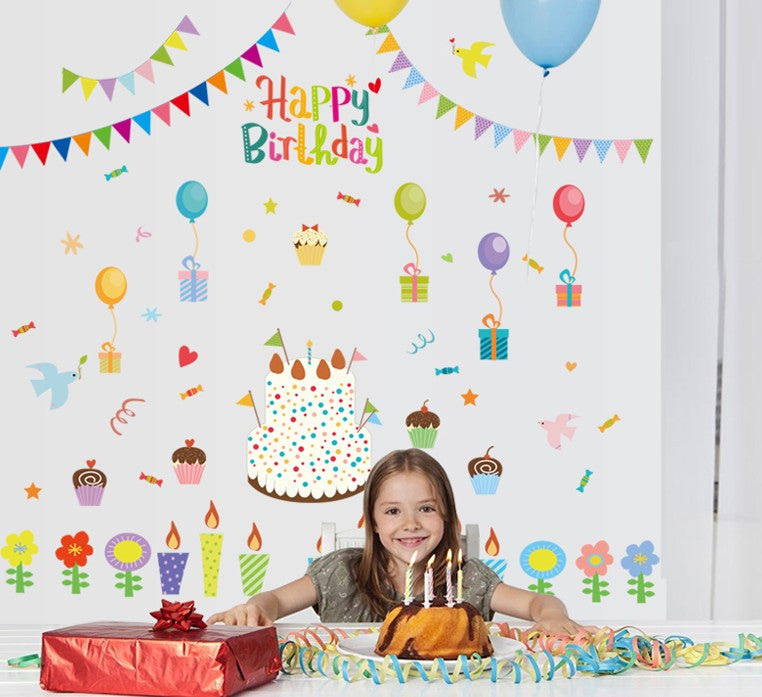 totomo #w140 happy birthday wall decal stickers – totomo