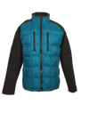 MENS DOWN AND SWEATER SOFTSHELL HYBRID JACKETS IN BLUE