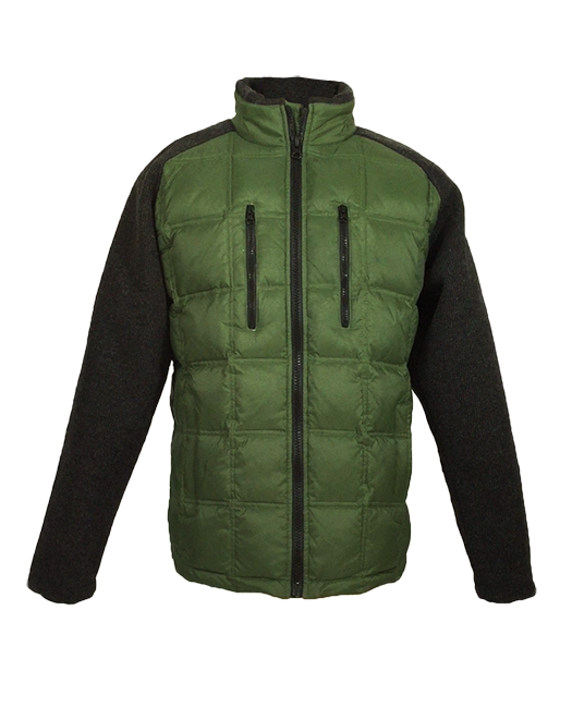 Mens Down And Sweater Softshell Hybrid Jackets...