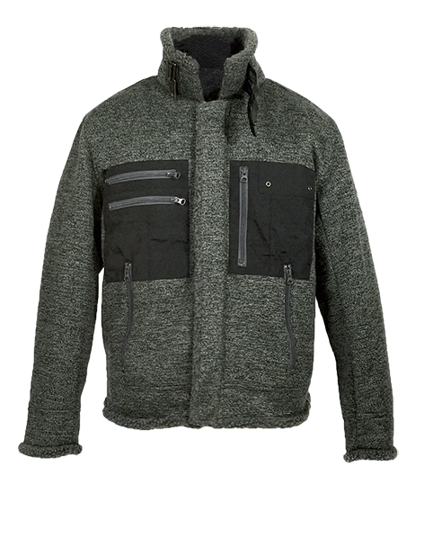 Mens Melange Wind/Rain Proof Sweater Midweight...