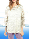 ASHORE WOMENS COTTON LACE BLOUSE TOPS
