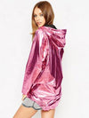 2019 New Women's Jackets Metallic Color Bomber Jacket pink spring jacket