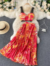 2021 Summer Two Piece Set Women Boho Beach Holiday Sets