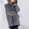 Office lady Warm Fashion Multi-Color Shawl Collar Coat