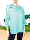 ASHORE WOMENS ELEGANT SHOULDER COTTON LACE BLOUSES