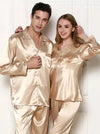 Couple Pajamas Golden Couple Spring Autumn Mens Ladies Long Sleeve Pajamas Golden Couple