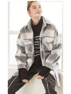 2019 Women Plaid Woolen Coat Autumn Winter Women's Trendy Cozy Fit Checked Woolen Coat