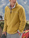 Mens Fleece tops Mens Casual Warm Pile Sweatershirt Mens Fall Winter Tops S-4XL
