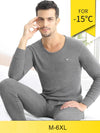Mens Women Cotton Long Johns Solution Long Sleeve Thermal Underwear