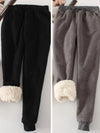 Women Pant Winter Thick Warm Pile Indoor and Outdoor Sweatshirt Pants 10 Colors