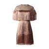 ASHORESHOP Tassel Dress Female Hollow Out Patchwork Tunic High Waist Mini Dresses