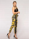 ASHORESHOP: Women Trendy Skin Camo Jeans Multi color Camo Pattern Hot Sale Women Hip Pants