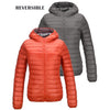 Women Reversible Duck Down Jackets Double Side