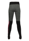 ASHORE Womens Seamless Melange/ Black Fitness Legging