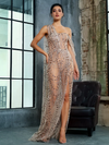 AshoreShop Take the Party Semi Transparent Bare Shoulder Sweep Evening Dress