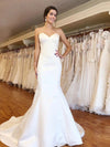 AshoreShop White Neat Fit Bridal Traditional Mermaid Classy Sweep Statuesque Evening Dress