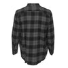 ASHORE Men High Quality Cotton/Poly Cotton Black/Grey Block Plaid Shirt