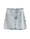 Women 2020 Chic Fashion Faded-effect Denim Mini Skirt