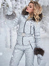 Ashoreshop Winter Hooded Jumpsuits Parka Elegant Cotton Padded Skisuits