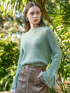 ASHORESHOP Valley Green Pull Over Sweaters O-Neck Jumpers