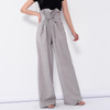 ASHORESHOP Lace up wide leg pants for women high waist ruffles  oversize x long trousers