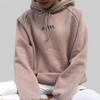 Women Light pink Pullovers Tops O-neck Hooded sweatshirt in Multiple colors