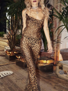 Ashoreshop Bodycon Dress autumn winter sexy Leopard print women dress