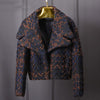Womens High Quality Wool Coat Women Slim Short Tweed Jacket