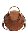 Small Round Women Shoulder Mini Bag PU Leather Women Bags Retro Handbag