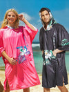 Unisex  Men Women Sunscreen with Hood Beach Swimming Cloak Cover-up